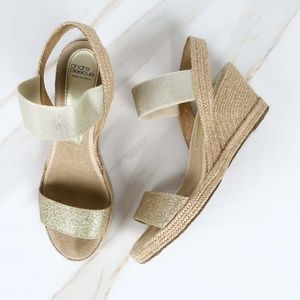 Andre Assous Metallic Wedges